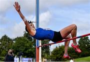 12 September 2020; Nichola Tighe of Waterford AC, competing in the High Jump event of the W40 Women's Pentathlon during day one of the Irish Life Health Combined Event Championships at Morton Stadium in Santry, Dublin. Photo by Sam Barnes/Sportsfile