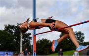 12 September 2020; Lara O'Byrne of Donore Harriers, Dublin, competing in the High Jump event of the Senior Women's Heptathlon  during day one of the Irish Life Health Combined Event Championships at Morton Stadium in Santry, Dublin. Photo by Sam Barnes/Sportsfile