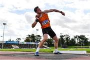 12 September 2020; Joseph McEvoy of Nenagh Olympic AC, Tipperary, competing in the Shot Put event of the Junior Men's Decathlon during day one of the Irish Life Health Combined Event Championships at Morton Stadium in Santry, Dublin. Photo by Sam Barnes/Sportsfile