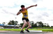 12 September 2020; Dylan Chambers of Bandon AC, Cork competing in the Shot Put event of the Junior  Men's Decathlon  during day one of the Irish Life Health Combined Event Championships at Morton Stadium in Santry, Dublin. Photo by Sam Barnes/Sportsfile