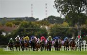 12 September 2020; A view of the field during the Irish Stallion Farms EBF 'Petingo' Handicap on day one of The Longines Irish Champions Weekend at Leopardstown Racecourse in Dublin. Photo by Seb Daly/Sportsfile