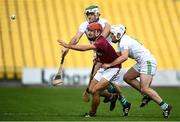 12 September 2020; Chris Kavanagh of Dicksboro in action against Jack Nolan and Paddy Deegan of O'Loughlin Gaels during the Kilkenny County Senior Hurling Championship Semi-Final match between Dicksboro and O'Loughlin Gaels at UPMC Nowlan Park in Kilkenny. Photo by David Fitzgerald/Sportsfile