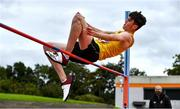 12 September 2020; Dylan Chambers of Bandon AC, Cork, competing in the High Jump event of the Junior Men's Decathlon during day one of the Irish Life Health Combined Event Championships at Morton Stadium in Santry, Dublin. Photo by Sam Barnes/Sportsfile