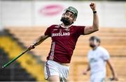 12 September 2020; Shane Stapleton of Dicksboro celebrates after scoring his side's second goal during the Kilkenny County Senior Hurling Championship Semi-Final match between Dicksboro and O'Loughlin Gaels at UPMC Nowlan Park in Kilkenny. Photo by David Fitzgerald/Sportsfile
