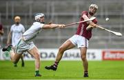 12 September 2020; Shane Stapleton of Dicksboro in action against Huw Lawlor of O'Loughlin Gaels during the Kilkenny County Senior Hurling Championship Semi-Final match between Dicksboro and O'Loughlin Gaels at UPMC Nowlan Park in Kilkenny. Photo by David Fitzgerald/Sportsfile