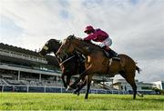 12 September 2020; Safe Voyage, right, with Colin Keane up, races alongside eventual second place Sinawann, far, with Ronan Whelan up, on their way to winning the Clipper Logistics Boomerang Mile during day one of The Longines Irish Champions Weekend at Leopardstown Racecourse in Dublin. Photo by Seb Daly/Sportsfile