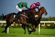 12 September 2020; Safe Voyage, right, with Colin Keane up, races alongside eventual second place Sinawann, left, with Ronan Whelan up, on their way to winning the Clipper Logistics Boomerang Mile during day one of The Longines Irish Champions Weekend at Leopardstown Racecourse in Dublin. Photo by Seb Daly/Sportsfile