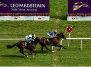 12 September 2020; Monday, right with Seamie Heffernan up, passes the post ahead of second place No Speak Alexander, with Shane Foley up, to win the Ballylinch Stud Irish EBF Ingabelle Stakes during day one of The Longines Irish Champions Weekend at Leopardstown Racecourse in Dublin. Photo by Seb Daly/Sportsfile
