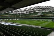 12 September 2020; A general view of the Aviva Stadium prior to the Guinness PRO14 Final match between Leinster and Ulster in Dublin. Photo by Brendan Moran/Sportsfile