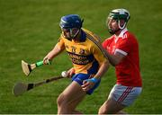 12 September 2020; Barry Corry of Sixmilebridge in action against Conor O'Halloran of Eire Óg during the Clare County Senior Hurling Championship Semi-Final match between Sixmilebridge and Eire Óg at Cusack Park in Ennis, Clare. Photo by Ray McManus/Sportsfile
