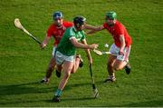 12 September 2020; David Woulfe of Kilmallock in action against Chris Thomas and Micheal Ryan of Doon during the Limerick County Senior Hurling Championship Semi-Final match between Doon and Kilmallock at LIT Gaelic Grounds in Limerick. Photo by Diarmuid Greene/Sportsfile