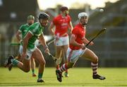 12 September 2020; Pat Ryan of Doon in action against Paddy O'Loughlin of Kilmallock during the Limerick County Senior Hurling Championship Semi-Final match between Doon and Kilmallock at LIT Gaelic Grounds in Limerick. Photo by Diarmuid Greene/Sportsfile