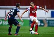 12 September 2020; Jamie Lennon of St Patrick's Athletic in action against David Cawley of Sligo Rovers during the SSE Airtricity League Premier Division match between St. Patrick's Athletic and Sligo Rovers at Richmond Park in Dublin. Photo by Ben McShane/Sportsfile