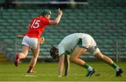 12 September 2020; Jack Ryan of Doon celebrates after scoring his side's second goal past Kilmallock goalkeeper Barry Hennessy during the Limerick County Senior Hurling Championship Semi-Final match between Doon and Kilmallock at LIT Gaelic Grounds in Limerick. Photo by Diarmuid Greene/Sportsfile
