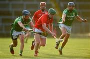 12 September 2020; Jack Ryan of Doon in action against Mark O'Loughlin and Gavin O'Mahony of Kilmallock during the Limerick County Senior Hurling Championship Semi-Final match between Doon and Kilmallock at LIT Gaelic Grounds in Limerick. Photo by Diarmuid Greene/Sportsfile
