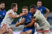 12 September 2020; Garry Ringrose of Leinster is tackled by Michael Lowry, left, and Sean Reidy during the Guinness PRO14 Final match between Leinster and Ulster at the Aviva Stadium in Dublin. Photo by Brendan Moran/Sportsfile