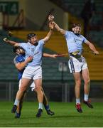 12 September 2020; David Dempsey and Peter Casey of Na Piarsaigh win possession ahead of Paudie Maher of Patrickswell during the Limerick County Senior Hurling Championship Semi-Final match between Patrickswell and Na Piarsaigh at LIT Gaelic Grounds in Limerick. Photo by Diarmuid Greene/Sportsfile