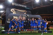12 September 2020; Rob Kearney, left, and Fergus McFadden, right, of Leinster lift the PRO14 trophy alongside their team-mates after the Guinness PRO14 Final match between Leinster and Ulster at the Aviva Stadium in Dublin. Photo by Ramsey Cardy/Sportsfile