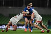 12 September 2020; Robbie Henshaw of Leinster is tackled by Jack McGrath and Alan O'Connor of Ulster during the Guinness PRO14 Final match between Leinster and Ulster at the Aviva Stadium in Dublin. Photo by Brendan Moran/Sportsfile