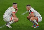 12 September 2020; James Hume, left, and Ian Madigan of Ulster after the Guinness PRO14 Final match between Leinster and Ulster at the Aviva Stadium in Dublin. Photo by Brendan Moran/Sportsfile