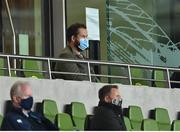 12 September 2020; Ireland head coach Andy Farrell in attendance during the Guinness PRO14 Final match between Leinster and Ulster at the Aviva Stadium in Dublin. Photo by Brendan Moran/Sportsfile
