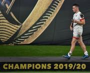 12 September 2020; John Cooney of Ulster leaves with his runner's up medal after the Guinness PRO14 Final match between Leinster and Ulster at the Aviva Stadium in Dublin. Photo by Brendan Moran/Sportsfile