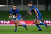 12 September 2020; James Lowe, left, and Ross Byrne of Leinster during the Guinness PRO14 Final match between Leinster and Ulster at the Aviva Stadium in Dublin. Photo by Ramsey Cardy/Sportsfile