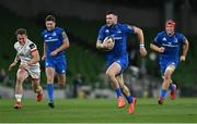 12 September 2020; Robbie Henshaw of Leinster on his way to scoring his side's second try during the Guinness PRO14 Final match between Leinster and Ulster at the Aviva Stadium in Dublin. Photo by Ramsey Cardy/Sportsfile