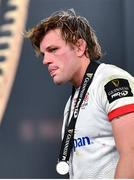 12 September 2020; Jordi Murphy of Ulster with their runners up medal following the Guinness PRO14 Final match between Leinster and Ulster at the Aviva Stadium in Dublin. Photo by Ramsey Cardy/Sportsfile