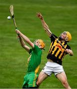13 September 2020; Niall Donovan of O'Callaghan's Mills in action against Morgan Garry of Ballyea during the Clare County Senior Hurling Championship Semi-Final match between Ballyea and O'Callaghan's Mills at Cusack Park in Ennis, Clare. Photo by Ray McManus/Sportsfile