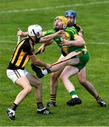 13 September 2020; Aian Fawl of O'Callaghan's Mills is tackled by Jack Browne, left, and James Murphy of Ballyea during the Clare County Senior Hurling Championship Semi-Final match between Ballyea and O'Callaghan's Mills at Cusack Park in Ennis, Clare. Photo by Ray McManus/Sportsfile