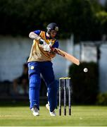 13 September 2020; Harvey Wootton of Cork County plays a shot during the All-Ireland T20 Semi-Final match between YMCA and Cork County at Pembroke Cricket Club in Dublin. Photo by Sam Barnes/Sportsfile