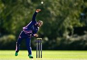 13 September 2020; Simi Singh of YMCA delivers during the All-Ireland T20 Semi-Final match between YMCA and Cork County at Pembroke Cricket Club in Dublin. Photo by Sam Barnes/Sportsfile