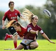 13 September 2020; Catherine Dempsey of Tullow during the Bryan Murphy Southeast Women's Cup match between Tullow and New Ross at Gorey RFC in Gorey, Wexford. Photo by Ramsey Cardy/Sportsfile