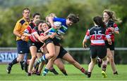 13 September 2020; Fleur Moran of Gorey is tackled by Vicky Rice of Wicklow during the Bryan Murphy Southeast Women's Cup match between Gorey and Wicklow at Gorey RFC in Gorey, Wexford. Photo by Ramsey Cardy/Sportsfile