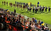 13 September 2020; The teams parade behind the band prior to the Armagh County Senior Football Championship Final match between Crossmaglen Rangers and Maghery Seán MacDiarmada at the Athletic Grounds in Armagh. Photo by David Fitzgerald/Sportsfile