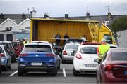 13 September 2020; Drive-thru bingo is played in a Ballybofey car park in Donegal. Photo by Stephen McCarthy/Sportsfile