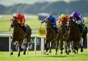 13 September 2020; Thunder Moon, left, with Declan McDonogh up, races clear of the field on their way to winning the Goffs Vincent O'Brien National Stakes during day two of The Longines Irish Champions Weekend at The Curragh Racecourse in Kildare. Photo by Seb Daly/Sportsfile