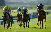 13 September 2020; Search For A Song, right, with Oisin Orr up, races alongside eventual second place Fujaira Prince, left, with Andrea Atzeni up, on their way to winning the Comer Group International Irish St Leger during day two of The Longines Irish Champions Weekend at The Curragh Racecourse in Kildare. Photo by Seb Daly/Sportsfile