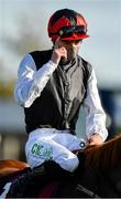 13 September 2020; Jockey Oisin Orr enters the winners enclosure after riding Search For A Song to victory in the Comer Group International Irish St Leger during day two of The Longines Irish Champions Weekend at The Curragh Racecourse in Kildare. Photo by Seb Daly/Sportsfile