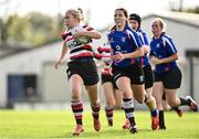 13 September 2020; Seana Kane of Enniscorthy on her way to scoring a try during the Southeast Women's Section Plate 2020/21 match between Enniscorthy and Wexford at Gorey RFC in Gorey, Wexford. Photo by Ramsey Cardy/Sportsfile