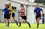 13 September 2020; Rachel Murphy of Enniscorthy on her way to scoring her side's second try during the Southeast Women's Section Plate 2020/21 match between Enniscorthy and Wexford at Gorey RFC in Gorey, Wexford. Photo by Ramsey Cardy/Sportsfile