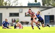 13 September 2020; Meabh Farrell of Enniscorthy is tackled by Julieann Saning of Wexford during the Southeast Women's Section Plate 2020/21 match between Enniscorthy and Wexford at Gorey RFC in Gorey, Wexford. Photo by Ramsey Cardy/Sportsfile