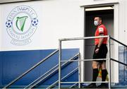 13 September 2020; Assistant referee Declan Toland during the SSE Airtricity League Premier Division match between Finn Harps and Derry City at Finn Park in Ballybofey, Donegal. Photo by Stephen McCarthy/Sportsfile