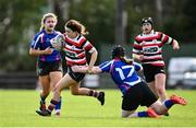 13 September 2020; Eu Fenlon of Enniscorthy is tackled by Tina Wright of Wexford during the Southeast Women's Section Plate 2020/21 match between Enniscorthy and Wexford at Gorey RFC in Gorey, Wexford. Photo by Ramsey Cardy/Sportsfile