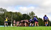 13 September 2020; A general view of a scrum during the Southeast Women's Section Plate 2020/21 match between Enniscorthy and Wexford at Gorey RFC in Gorey, Wexford. Photo by Ramsey Cardy/Sportsfile