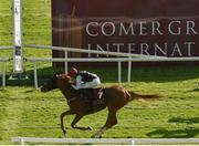 13 September 2020; Search For A Song, left, with Oisin Orr up, passes the post to win the Comer Group International Irish St Leger during day two of The Longines Irish Champions Weekend at The Curragh Racecourse in Kildare. Photo by Seb Daly/Sportsfile