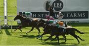 13 September 2020; Mr Lupton, left, with Colin Keane up, passes the post to win the Irish Stallion Farms EBF 'Bold Lad' Sprint Handicap during day two of The Longines Irish Champions Weekend at The Curragh Racecourse in Kildare. Photo by Seb Daly/Sportsfile