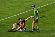13 September 2020; Niall Deasy of Ballyea is consoled by Ciarán Cooney of O'Callaghan's Mills after the Clare County Senior Hurling Championship Semi-Final match between Ballyea and O'Callaghan's Mills at Cusack Park in Ennis, Clare. Photo by Ray McManus/Sportsfile