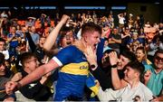 13 September 2020; Kevin Robinson of Maghery Seán MacDiarmada celebrates with supporters following the Armagh County Senior Football Championship Final match between Crossmaglen Rangers and Maghery Seán MacDiarmada at the Athletic Grounds in Armagh. Photo by David Fitzgerald/Sportsfile